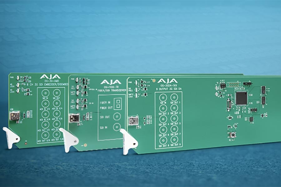 AJA Releases New openGear® Rackframe Cards with DashBoard…