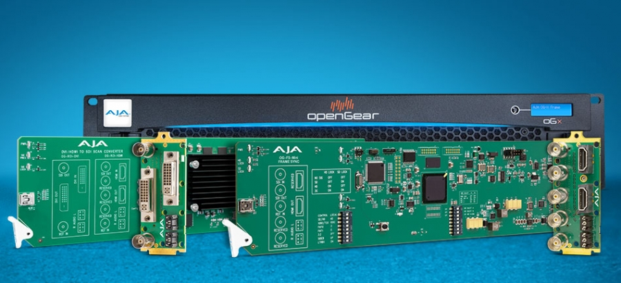 AJA Introduces New openGear® Compatible Cards at IBC…