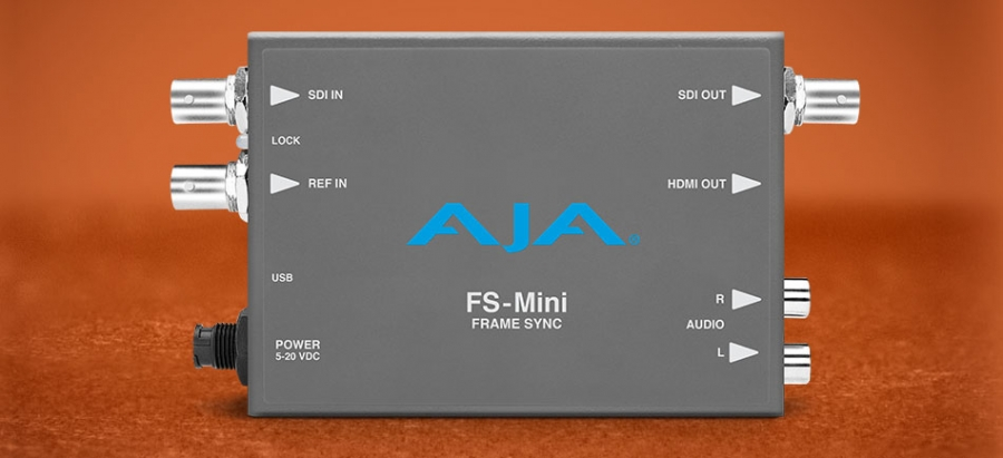 AJA Launches the FS-Mini Frame Synchronizer at IBC…