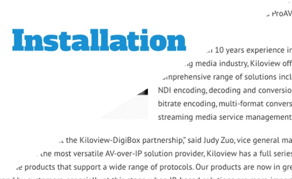 Installation - DigiBox & Kiloview News