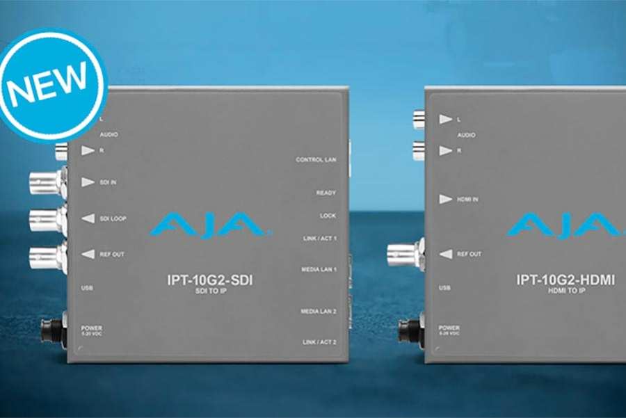 AJA Announces IPT-10G2-HDMI and IPT-10G2-SDI SMPTE ST 2110…