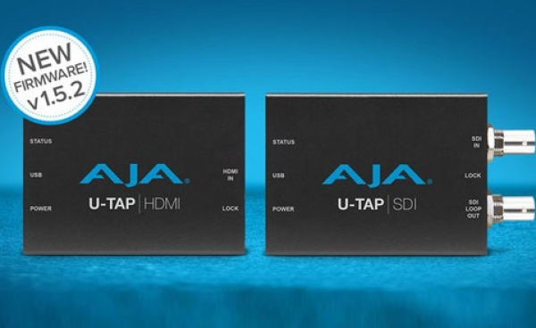 AJA Announces U-Tap firmware update v 1.5.2