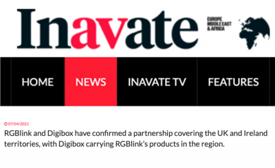 InAVate - RGBlink Partners with DigiBox