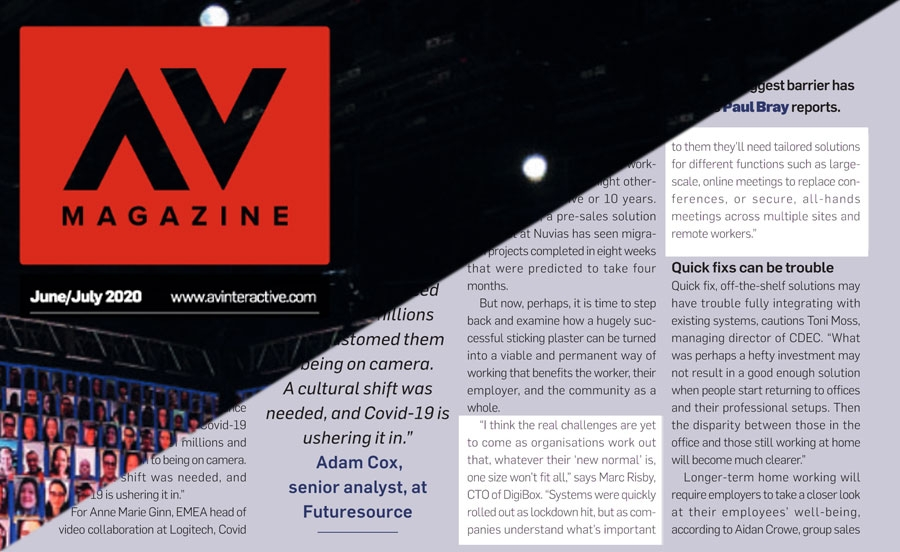 DigiBox in AV Magazine's article on a cultural…